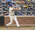 Daisuke Matsuzaka (Mets),<br /> AUGUST 28, 2013 - MLB :<br /> Daisuke Matsuzaka of the New York Mets hits a single in the third inning during the Major League Baseball game against the Philadelphia Phillies at Citi Field in Flushing, New York, United States. (Photo by AFLO)