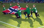 June 1th 2017, Ullevaal Stadion, Oslo, Norway; International Football Friendly 2018 football, Norway versus Sweden; Norway flag on display