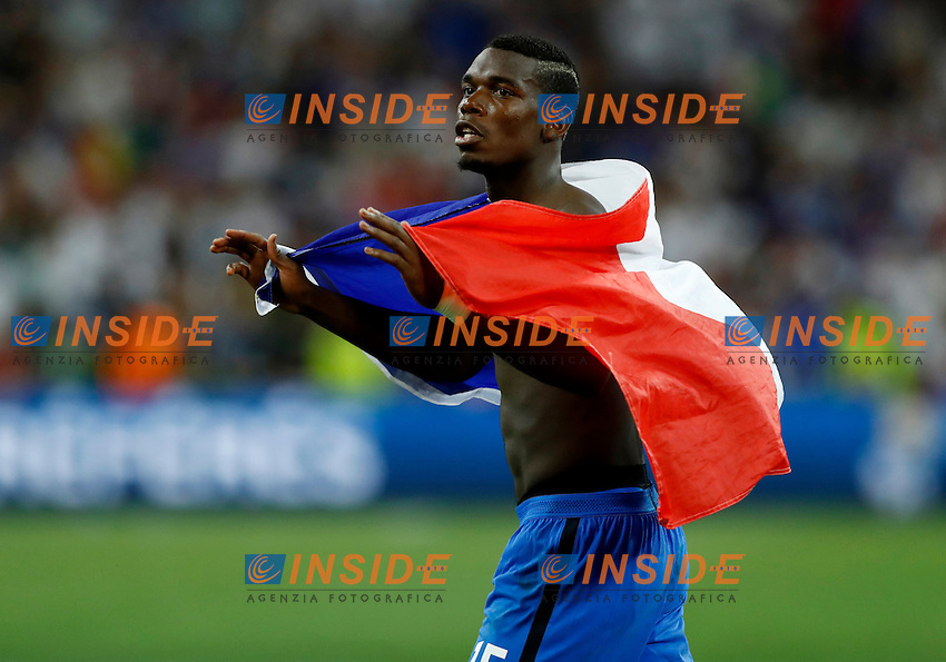 Paul Pogba (France) victory celebrating. esultanza vittoria<br /> Marseille 07-07-2016 Stade Velodrome Football Euro2016 Germany - France / Germania - Francia Semi-finals / Semifinali <br /> Foto Matteo Ciambelli / Insidefoto