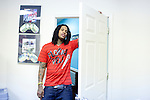 Rapper Waka Flocka at the Mizay Entertainment office in Jonesboro, Georgia August 17, 2010.