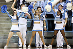 16 November 2014: UNC cheerleaders. The University of North Carolina Tar Heels hosted the University of California Los Angeles Bruins at Carmichael Arena in Chapel Hill, North Carolina in a 2014-15 NCAA Division I Women's Basketball game. UNC won the game 84-68.