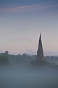 12/09/16<br /> <br /> Dawn breaks over St Peter's Church, Edensor, on the Chatsworth Estate near Bakewell,  Derbyshire.<br /> <br /> All Rights Reserved, F Stop Press Ltd. +44 (0)1773 550665