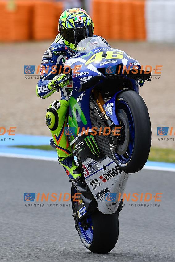 Jerez de la Frontera (Spain) 23/04/2016 - Moto Gp practice / Photo Luca Gambuti/Image Sport/Insidefoto<br /> Valentino Rossi