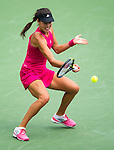 Ana Ivanovic (SRB) loses to Serena Williams (USA) in the final of the Western & Southern Open by 64 61 in Mason, OH on August 17, 2014.