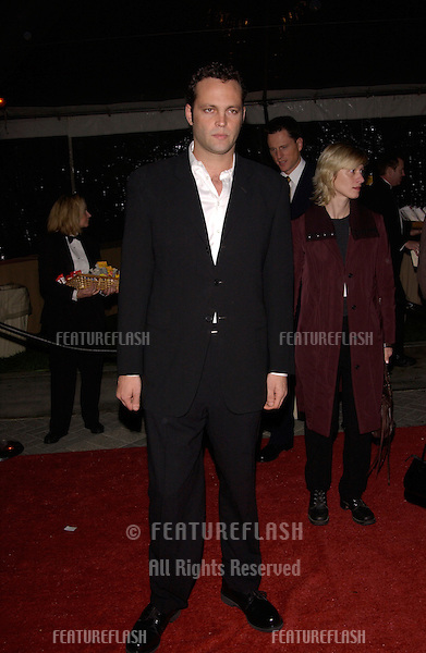 Actor VINCE VAUGHN at the world premiere, in Hollywood, of his new movie Domestic Disturbance. .30OCT2001.  © Paul Smith/Featureflash