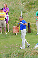 Pat Murray (Limerick) on the 11th tee during Round 3 of The South of Ireland in Lahinch Golf Club on Monday 28th July 2014.<br /> Picture:  Thos Caffrey / www.golffile.ie
