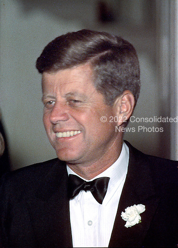 Undated File Photo from 1963 of United States President John F. Kennedy at a formal event at the White House in Washington, D.C. .Credit: Arnie Sachs - CNP