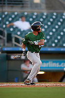 Daytona Tortugas Andy Sugilio (25) at bat during a Florida State League game against the Palm Beach Cardinals on April 11, 2019 at Roger Dean Stadium in Jupiter, Florida.  Palm Beach defeated Daytona 6-0.  (Mike Janes/Four Seam Images)