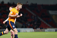 Goal - Eoin Doyle celebrates scoring his side's equalising goal to make the score 1-1during the Sky Bet League 1 match between Doncaster Rovers and Oldham Athletic at the Keepmoat Stadium, Doncaster, England on 16 December 2017. Photo by Juel Miah / PRiME Media Images.