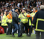 Stewards try to contain the Hajduk Split fans during the Europa League Qualifying Play Offs 1st Leg match at Goodison Park Stadium, Liverpool. Picture date: August 17th 2017. Picture credit should read: David Klein/Sportimage