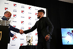 ATLANTA, GA - DECEMBER 05: MLS Senior Vice President, Competition & Player Relations Lino DiCuollo presents the Landon Donovan MVP Award to Atlanta United FC's Josef Martinez. The 2018 MLS MVP Presentation was held on December 5, 2018 at the Arthur Blank Family Center in Atlanta, GA.