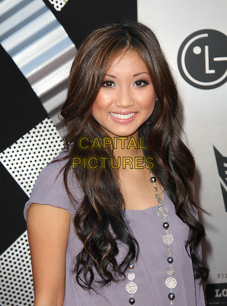 "BRENDA SONG.The Premiere ""Transformers 2: Revenge Of The Fallen"" held at The Mann's Village Theatre in Westwood, California, USA. .June 22nd, 2009 .half length purple sheer dress silver necklace .CAP/ADM/KB.©Kevan Brooks/AdMedia/Capital Pictures."
