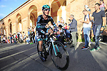 Jay McCarthy (AUS) Bora-Hansgrohe on the San Luca climb during Stage 1 of the 2019 Giro d'Italia, an individual time trial running 8km from Bologna to the Sanctuary of San Luca, Bologna, Italy. 11th May 2019.<br /> Picture: Eoin Clarke | Cyclefile<br /> <br /> All photos usage must carry mandatory copyright credit (© Cyclefile | Eoin Clarke)