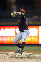 Rochester Red Wings relief pitcher Zack Weiss (50) in action against the Charlotte Knights at BB&T BallPark on May 14, 2019 in Charlotte, North Carolina. The Knights defeated the Red Wings 13-7. (Brian Westerholt/Four Seam Images)