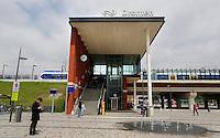 Station Dronten langs de nieuwe Hanzelijn