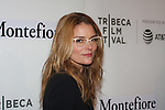 Actress Susan Misner arrives at the Tribeca Talks: Storytellers with Ed Burns & world premiere of Summertime at BMCC Tribeca PAC, on April 27, 2018, during the 2018 Tribeca Film Festival.