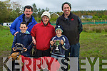 FAMILY: The Dowling  Family with their winning dog Ballymac Julie after they won the All Age Bitch Stake and the Denis Horgan Memorial Cup, Liam, Jane, Eamon and Declan Dowling and Stephen Reidy........................... ............................................................   Copyright Kerry's Eye 2008