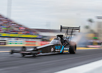 Mar 16, 2019; Gainesville, FL, USA; NHRA top fuel driver Scott Palmer during qualifying for the Gatornationals at Gainesville Raceway. Mandatory Credit: Mark J. Rebilas-USA TODAY Sports