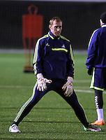 Swansea goalkeeper Gerhard Tremmel during training