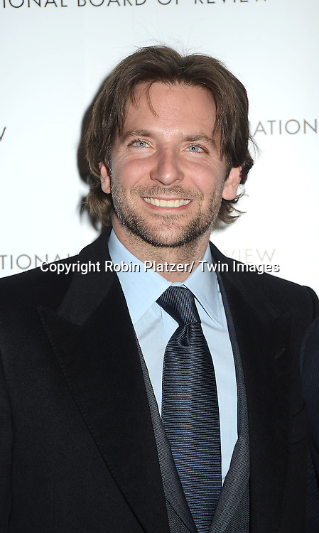 Bradley Cooper attends the 2013 National Board of Review Awards Gala on January 8, 2013  at Cipriani 42nd Street in New York City.