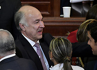 BOGOTÁ -COLOMBIA. 20-07-2017: Enrique Gil, Ministro de Justicia de Colombia, durante la ceremonia de instalación de la legislatura 2017 2018 del Congreso de la República de Colombia realizado hoy, 20 de julio de 2017, en el salón Elíptico del Capitolio Nacional de Colombia en la ciudad de Bogotá. / Enrique Gil, Minister of Justice of Colombia, during the ceremony of installation of the Legistature 2017 2018 of the Congress of the Republic of Colombia made today, July 20 2017, at Ellipptical room of the National Capitol of Colombia in Bogota city. Photo: VizzorImage/ Gabriel Aponte / Staff
