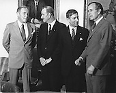 United States Vice President George H.W. Bush, right, and U.S. Secretary of State Alexander Haig, left, meet Minister of Foreign Affairs Chris van der Klaauw, center left, and Prime Minister Andreas A.M. &quot;Dries&quot; van Agt of the Netherlands at the White House in Washington, D.C. on March 31, 1981.  Bush has temporarily taken over the duties of the Chief Executive following the assassination attempt on U.S. President Ronald Reagan the day before.<br /> Credit: Benjamin E. &quot;Gene&quot; Forte / CNP