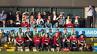 The Swansea Bench with Gylfi Sigurosson (right) during the 2017/18 Pre Season Friendly match between Barnet and Swansea City at The Hive, London, England on 12 July 2017. Photo by Andy Rowland.