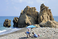 - Sicilia,  la spiaggia di Castel di Tusa (Messina)<br />