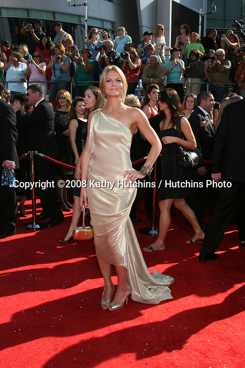 Jennifer Morrison.arriving at the Primetime Emmys at the Nokia Theater in Los Angeles, CA on.September 21, 2008.©2008 Kathy Hutchins / Hutchins Photo....
