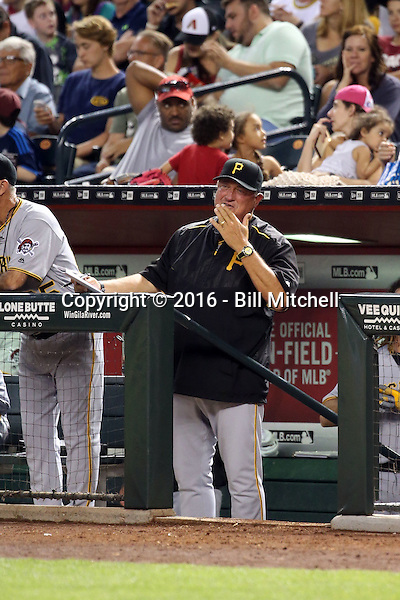 Clint Hurdle, manager - 2016 Pittsburgh Pirates (Bill Mitchell)