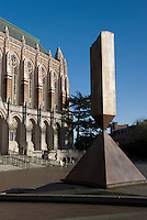 Suzallo Library, Central Plaza, University of Washington, Seattle.