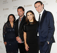 NEW YORK, NY-July 14: Sonal Shah, Joe Huff, Eva Longoria, Alexandre Ricard at Chivas Regal presents The Venture Grand Finale at Pier 59 West Side Highway in New York. NY July 14, 2016. Credit:RW/MediaPunch