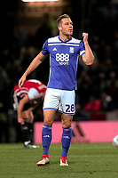 Michael Morrison celebrates scoring Birmingham's opening goal during Brentford vs Birmingham City, Sky Bet EFL Championship Football at Griffin Park on 2nd October 2018