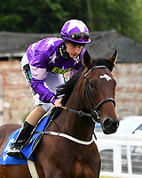 General Zoff ridden by Joshua Bryan goes down to the start during Ladies Evening Racing at Salisbury Racecourse on 15th July 2017