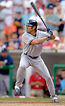 17 June 2006: Johnny Damon, center fielder for the New York Yankees, at bat against the Washington Nationals at RFK Stadium, in Washington, DC. The Nationals overcame a seven run deficit to win 11-9 in the second game of the interleague series...Mandatory Photo Credit: Ed Wolfstein Photo...