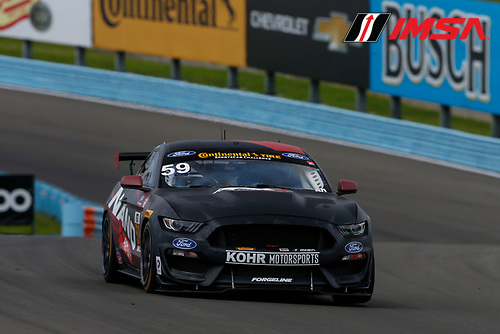 IMSA Continental Tire SportsCar Challenge<br /> Continental Tire 120 at The Glen<br /> Watkins Glen International, Watkins Glen, NY USA<br /> Thursday 29 June 2017<br /> 59, Ford, Ford Mustang, GS, Dean Martin, Jack Roush Jr<br /> World Copyright: Jake Galstad/LAT Images