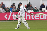 Ryan ten Doeschate of Essex leaves the field having been dismissed for 1 during Worcestershire CCC vs Essex CCC, Specsavers County Championship Division 1 Cricket at Blackfinch New Road on 11th May 2018