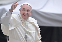 Pope Francis during a meeting with the  Movement of Renewal in the Spirit.n St. Peter square at the Vatican,.3 July 2015