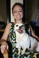 "Friday, June 20, 2008 was take your dog to work day at Caldwell Banker in Mission Beach, California USA.  Ally Edgerton and ""Winston""."