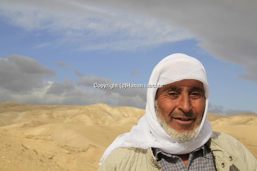 Judean Desert, a Bedouin in Wadi Qelt