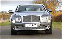 BNPS.co.uk (01202 558833)<br /> Pic: H&amp;H/BNPS<br /> <br /> 2012 Bentley Mulsanne with only 2300 miles on the clock - &pound;100,000.<br /> <br /> The &pound;1,000,000 garage sale... a stunning collection of luxury cars seized from the personal collection of a Middle Eastern sheikh has emerged. <br /> <br /> The impressive fleet, comprising Ferrari, Rolls-Royce and Bentley motors, has arrived at auction following a high court ruling against their former owner. <br /> <br /> Due to their unusual history many of the cars, all of which were UK based and have unusually low mileages, are being offered at a bargain price.