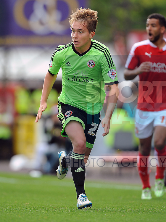 Louis Reed of Sheffield United<br /> - English League One - Swindon Town vs Sheffield Utd - County Ground Stadium - Swindon - England - 29th August 2015