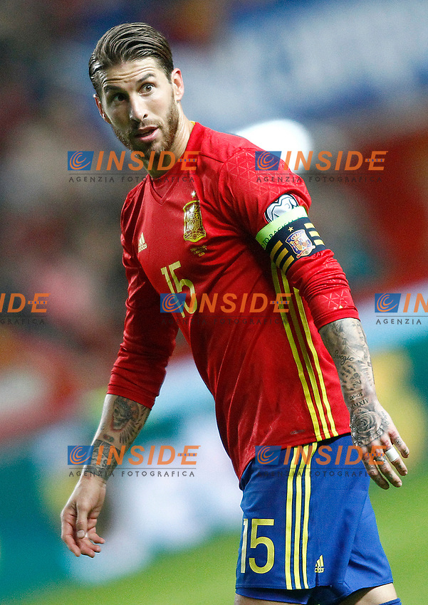 Spain's Sergio Ramos during FIFA World Cup 2018 Qualifying Round match. <br /> Gijon 24-03-2017 Stadio El Molinon <br /> Qualificazioni Mondiali <br /> Spagna - Israele <br /> Foto Acero/Alterphotos/Insidefoto <br /> ITALY ONLY