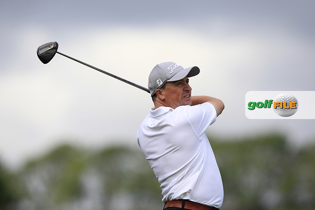 Declan Mullally (Athenry) on the 10th tee during the Final of the AIG Jimmy Bruen Shield in the AIG Cups & Shields Connacht Finals 2019 in Westport Golf Club, Westport, Co. Mayo on Sunday 11th August 2019.<br /> <br /> Picture:  Thos Caffrey / www.golffile.ie<br /> <br /> All photos usage must carry mandatory copyright credit (© Golffile | Thos Caffrey)