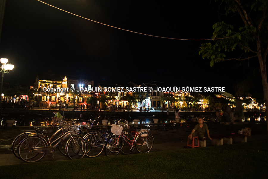 Night view of the old district of Hoi An in Vietnam.<br /> HOIAN-VIETNAM