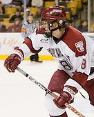 Ian Tallett (Harvard - 8) - The Northeastern University Huskies defeated the Harvard University Crimson 3-1 in the Beanpot consolation game on Monday, February 12, 2007, at TD Banknorth Garden in Boston, Massachusetts.