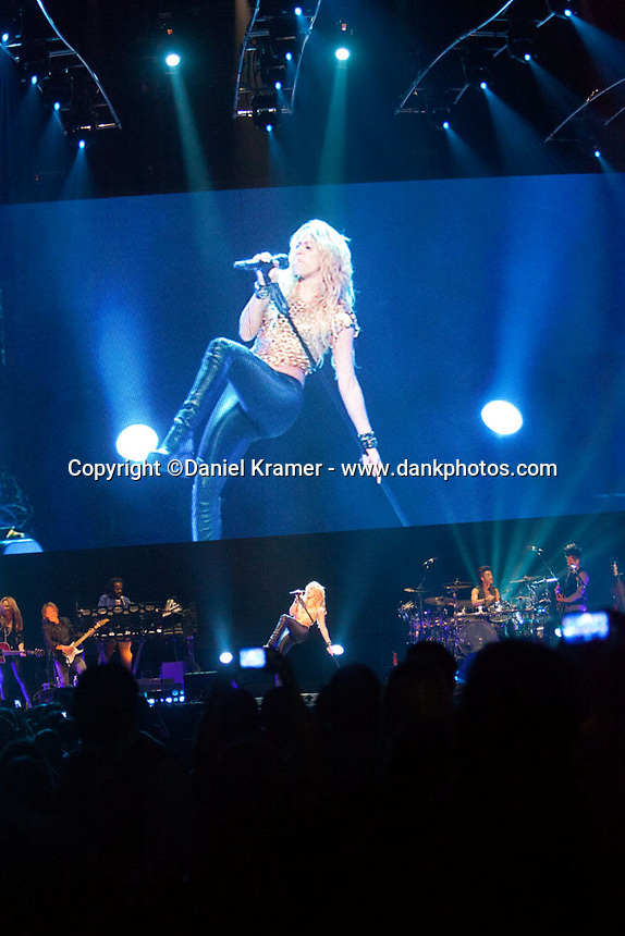 Shakira performs at the Toyota Center in Houston, Texas on October 7, 2010