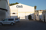 Croft sherry brand sign on building, Gonzalez Byass bodega, Jerez de la Frontera, Cadiz province, Spain