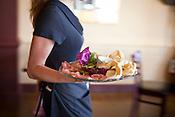 Coccoli con prosciutto and strachinno, lightly fried dough with prosciutto di parma & strachinno cheese at Enrigo Italian Bistro, 575 New Waverly Place, Suite 106, Cary, Thursday, September 13, 2012.