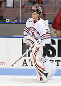 Chris Rawlings (NU - 37) - The Northeastern University Huskies defeated the Bentley University Falcons 3-2 on Friday, October 16, 2009, at Matthews Arena in Boston, Massachusetts..